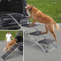 Pet ramp for car, truck, and SUV. Ideal for aging dogs or those